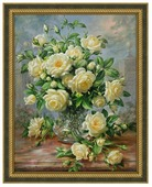 Алмазная живопись Набор алмазной вышивки Кустовая роза (АЖ-1249) 50х64 см