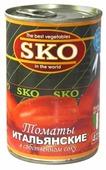 Томаты итальянские очищенные в собственном соку SKO жестяная банка 400 г 425 мл