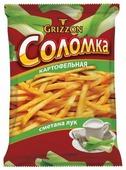 Соломка картофельная GRIZZON со вкусом сметаны и лука 80 г