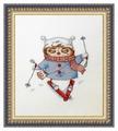 NeoCraft Набор для вышивания крестиком Лыжница 15 x 15 см (св-15)
