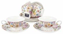 """Чайный сервиз Nouvelle De France """"Лето в Европе"""", 12 предметов, 180 мл (подарочная упаковка)"""