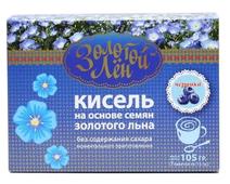 Кисель ВИТАПРОМ Золотой лен на льняной основе Черника 7 шт. по 15 г