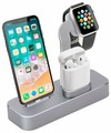 Док-станция COTEetCI Base19 Dock 3 in 1 для Apple Watch / iPhone / AirPods Space Gray CS7201-GY