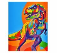 "Артвентура Картина по номерам ""Радужный динозавр"" 16.5x13 см (MINI16130007)"