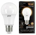 Лампа светодиодная gauss 102502116, E27, A60, 16Вт