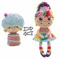 Мягкая игрушка 1 TOY Девчушка-вывернушка Настюшка 38 см