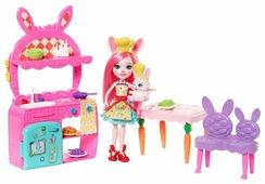 Набор с куклой Enchantimals Кухня Бри Кроли, 15 см, FRH47