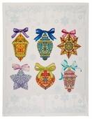 Наклейка интерьерная Феникс Present Разноцветные елочные игрушки 30 x 38 см