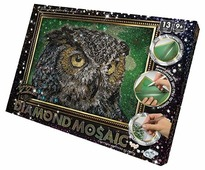 Danko Toys Набор алмазной вышивки Diamond Mosaic Сова (DM-02-01) 30х20 см