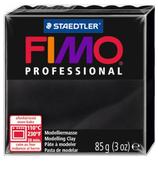 Полимерная глина FIMO Professional запекаемая 85 г черный (8004-9)