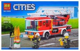 Конструктор BELA Cities 10828 Пожарный автомобиль с лестницей