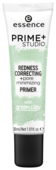 Essence праймер-корректор покраснений Prime Studio Redness Correcting Pore Minimizing Primer with Green Clay 30 мл