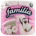 Туалетная бумага Familia Plus Весенний цвет двухслойная