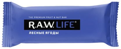 Фруктовый батончик R.A.W. Life без сахара Лесные ягоды, 47 г