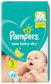 Pampers подгузники New Baby Dry 1 (2-5 кг) 43 шт.