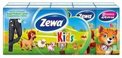 Платочки Zewa Kids бумажные носовые, 3 слоя, 10 шт. x 10,