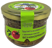OLIVATECA Брускетта из оливок Халкидики с вялеными томатами, стеклянная банка 200 г