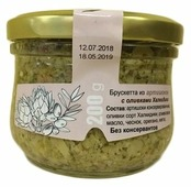 OLIVATECA Брускетта из артишоков с оливками Халкидики, стеклянная банка 200 г