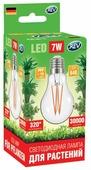 Лампа светодиодная для растений REV 32416 4, E27, A60, 7Вт