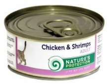Nature's Protection Корм для кошек Nature s Protection Консервы Cat Adult Chicken & Shrimps