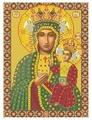 Канва для вышивания с рисунком NOVA SLOBODA Богородица Ченстоховская БИС-1211 26 х 36 см