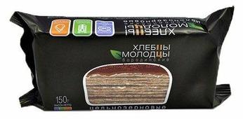 Хлебцы цельнозерновые Хлебцы-молодцы Бородинские 150 г