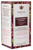 Чайный напиток фруктовый Niktea Strawberry dessert в пакетиках