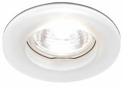 Встраиваемый светильник Ambrella light D2240 W, хром/матовое стекло