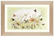 Lanarte Набор для вышивания Бабочки на лугу 56 x 32 см (0007967-PN)