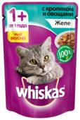 Корм для кошек Whiskas с кроликом 85 г (кусочки в желе)