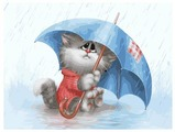 "Белоснежка Картина по номерам ""Кошарик под дождём"" 30х40 см (738-AS)"