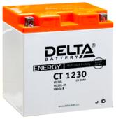 Аккумулятор стартерный Delta CT 1230 (YIX30L, YB30L-B,YIX30L-BS)