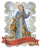 Наклейка интерьерная Феникс Present Снегурочка и оленята 35 x 41 см