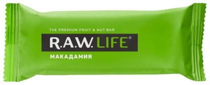 Фруктовый батончик R.A.W. Life без сахара Макадамия, 47 г