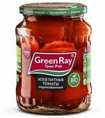 Аппетитные томаты маринованные Green Ray стеклянная банка 680 г