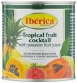 Iberica Консервированный тропический фруктовый коктейль с соком маракуйи, жестяная банка 425 г