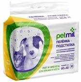 Пеленки для собак впитывающие Медмил Petmil 60х40 см