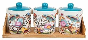 Nouvelle De France Набор банок для сыпучих продуктов Сад 0660057 3 шт.