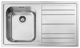 Врезная кухонная мойка smeg LE861D-2 86.8х50.8см нержавеющая сталь