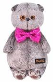 Мягкая игрушка Basik&Co Кот Басик в галстуке-бабочке в пайетках 22 см