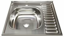 Накладная кухонная мойка Mixline 60х60 (0,4) 1 1/2 левая 60х60см нержавеющая сталь