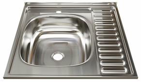 Накладная кухонная мойка Mixline 60х60 (0,4) 1 1/2 левая
