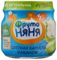 Пюре ФрутоНяня из цветной капусты и кабачков (с 5 месяцев) 100 г, 6 шт