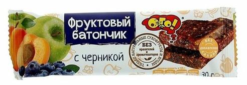 Фруктовый батончик ОГО! без сахара Черника, 30 г