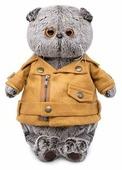 Мягкая игрушка Basik&Co Кот Басик в куртке-косухе 30 см