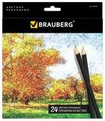 BRAUBERG Цветные карандаши Artist line 24 цвета (180565)