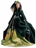 Кукла Barbie Унесенные ветром Изумрудное платье из гардин Скарлетт О'Хара в исполнении Вивьен Ли, 29771