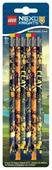 LEGO Набор чернографитных карандашей Nexo Knights (Рыцари Нексо) 6 шт с ластиком (51546)