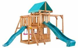 Домик Babygarden с балконом, закрытым домиком, рукоходом и двумя горками
