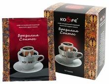 Молотый кофе KO&FE Бразилия Сантос, в дрип-пакетах